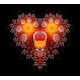 Heart Shaped Diamond Fractal Background - GraphicRiver Item for Sale