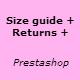 Size returns policy guide - Prestashop Module