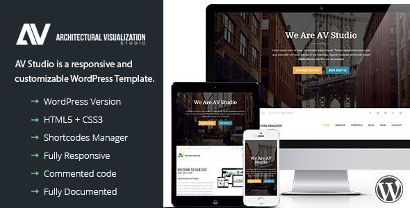 AVStudio - One Page WordPress Theme