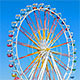Ferris Wheel Against Clear Blue Sky - VideoHive Item for Sale