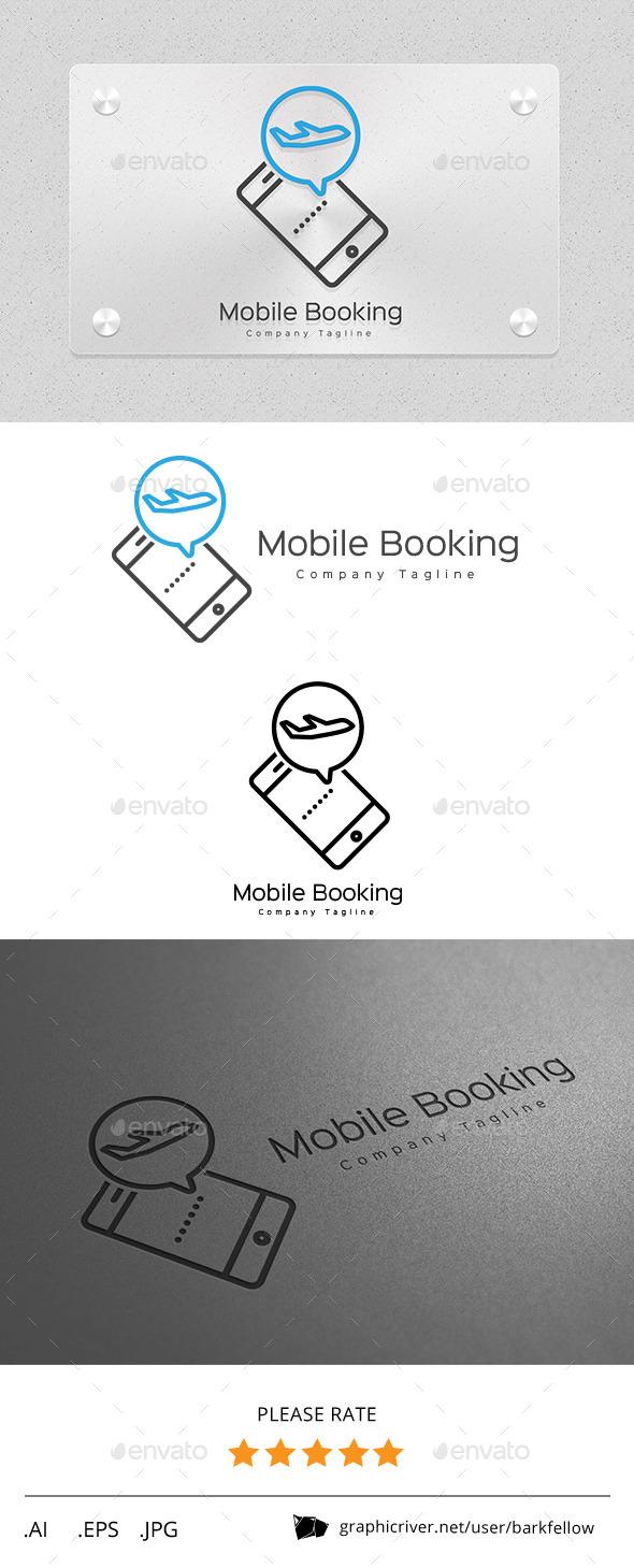 Mobile Online Travel Booking Logo