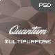 Quantum - Personal Multipurpose Design PSD - ThemeForest Item for Sale