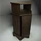 Hexagonal Wooden Cabinet - 3DOcean Item for Sale