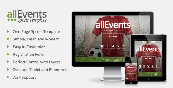 allEvents - Sports Muse Template