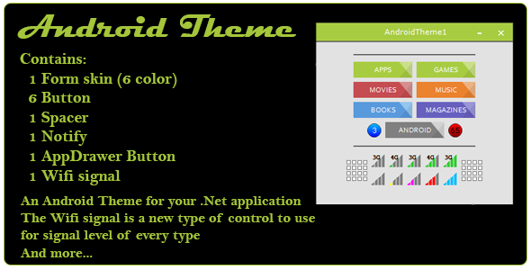 Android Theme and control for .Net