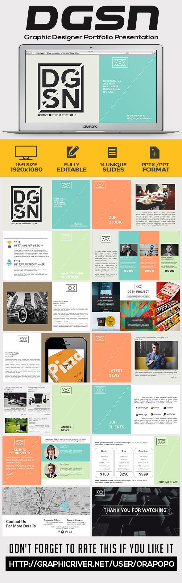 Graphic Design Portfolio Presentation Graphics, Designs