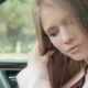 Sensual Woman Looking In Rear View Mirror - VideoHive Item for Sale
