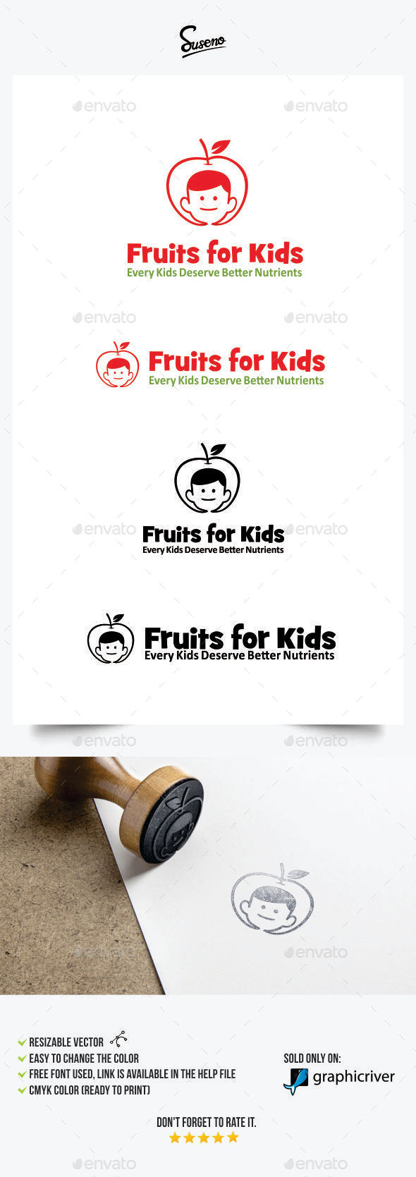 Fruits for Kids Logo