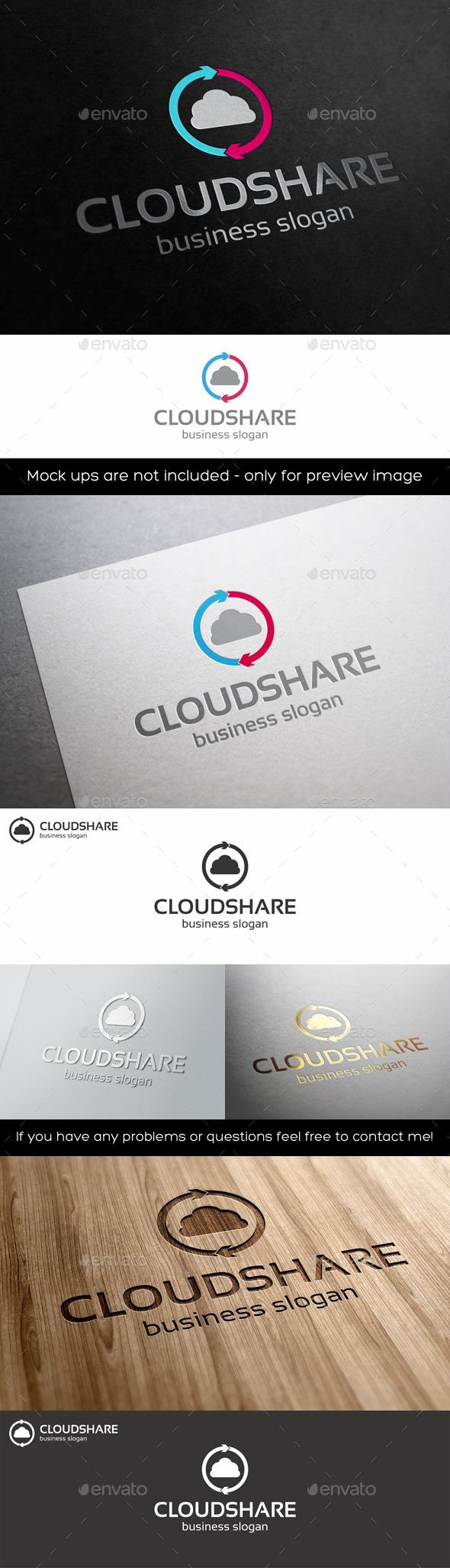 Cloud Share Logo Template