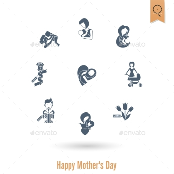 Happy Mothers Day Icons