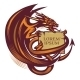 Dragon Holding a Banner Tattoo - GraphicRiver Item for Sale