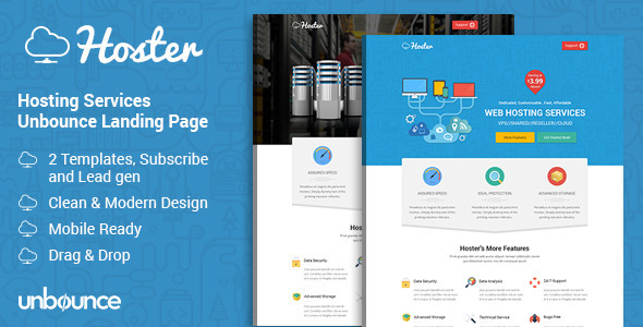 Hoster - Hosting Services Landing Page
