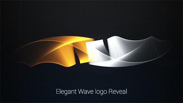 Elegant Wave Logo Reveal