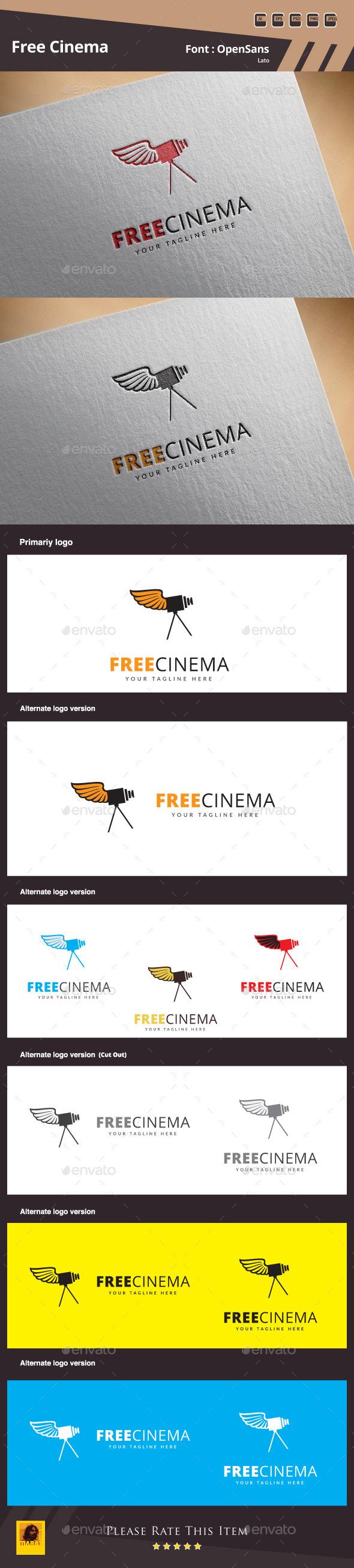 Free Cinema Logo Template