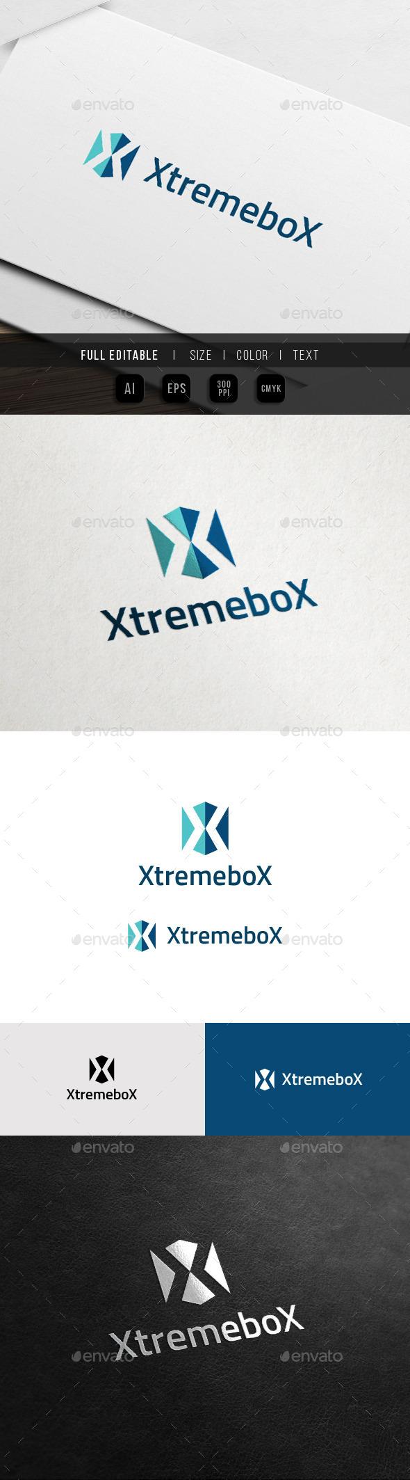 Extreme Box - X Sport Game - X Logo