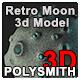Retro Moon - 3DOcean Item for Sale