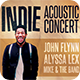 Indie Acoustic Concert Flyer  - GraphicRiver Item for Sale
