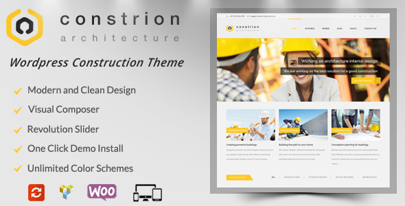 Constrion - Construction and Builder WP Theme