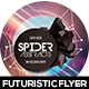 Spider Abstract Futuristic Flyer Design - GraphicRiver Item for Sale