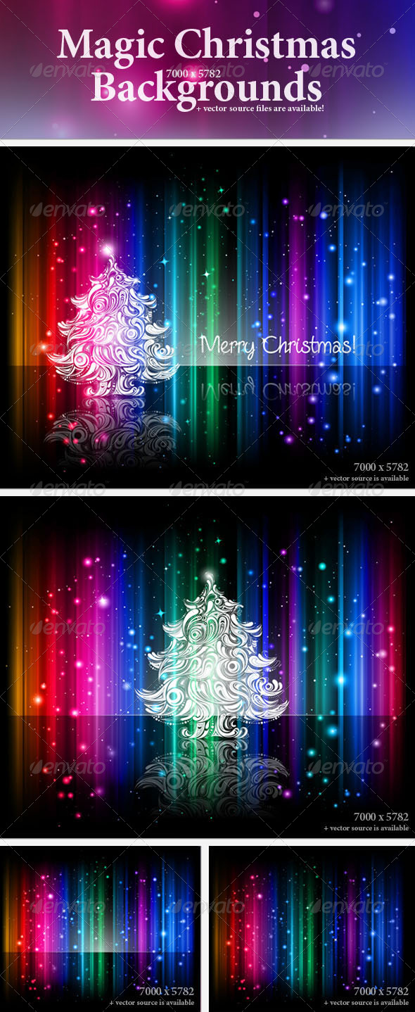 Magic Christmas Backgrounds