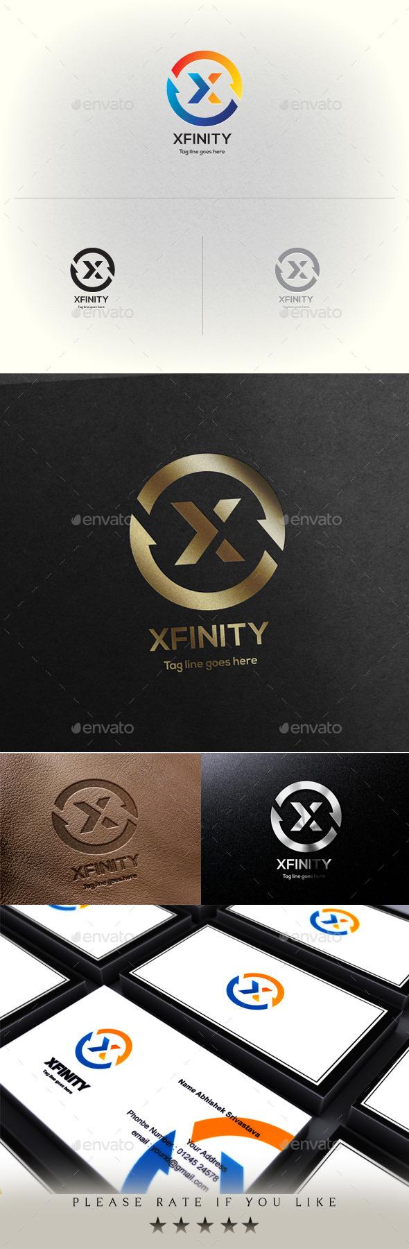 Xfinity X Letter Logo Template