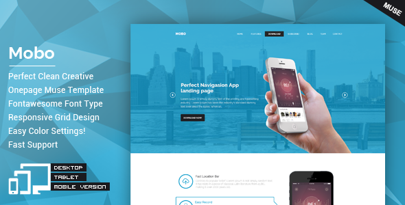 Mobo - One Page Parallax Muse Theme