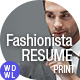 Resume/CV | Fashion & Design  - GraphicRiver Item for Sale