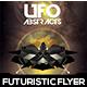 UFO Abstract Futuristic Flyer Design - GraphicRiver Item for Sale