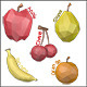 Low Poly Fruits - 3DOcean Item for Sale