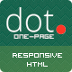 DOT - Creative One Page HTML Template - ThemeForest Item for Sale