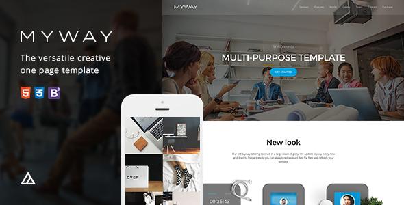 Myway - Onepage Bootstrap Parallax Szablon siatkówki