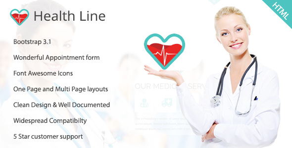 Health Line - Medic HTML Template