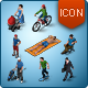 Isometric Map Icons - People - GraphicRiver Item for Sale