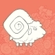 Vector Illustration Cute Hand Drawn Sheep - GraphicRiver Item for Sale