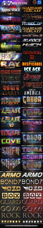 53 Movie Text Style Bundle