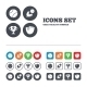 Baseball Icons. Ball With Glove And Bat Symbols. - GraphicRiver Item for Sale