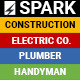 Spark - Construction / Electrician / Plumber Email Template  - GraphicRiver Item for Sale