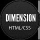 Dimension - Minimalist Portfolio Template - ThemeForest Item for Sale