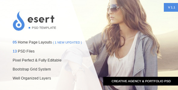 Desert - Agency & Portfolio PSD Template