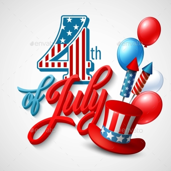 American Independence Day. Festive Vector