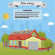 Solar Energy House Panel Isometric Ecology - GraphicRiver Item for Sale