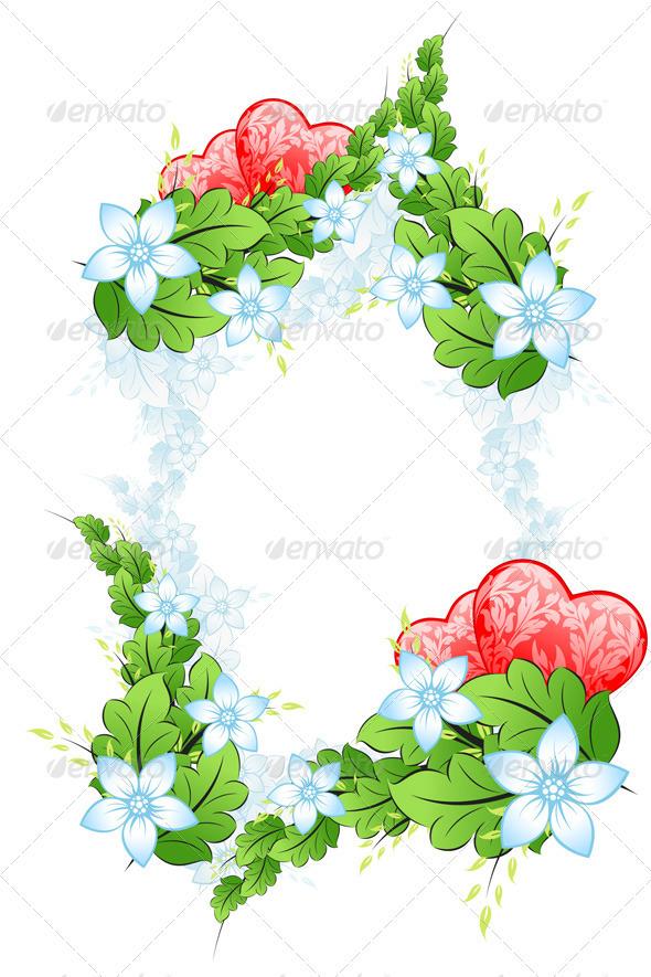 Floral Valentines Day Framing