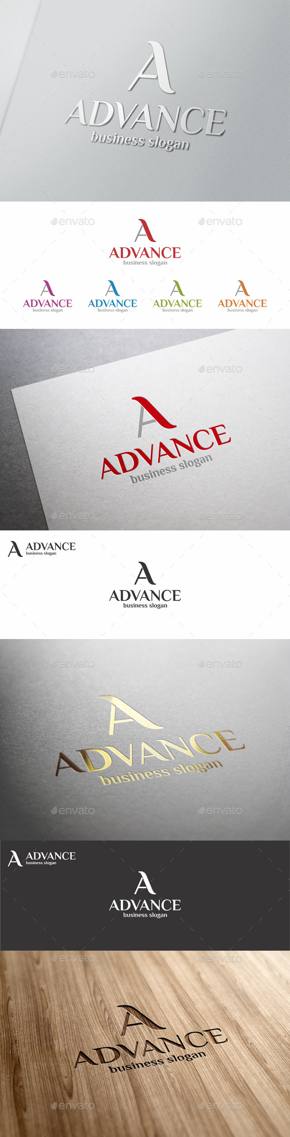 A Logo Letter Template - Advance