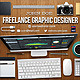 Graphic Designer Workspace Timeline Cover - GraphicRiver Item for Sale