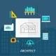 Architect Profession Icons Set  - GraphicRiver Item for Sale