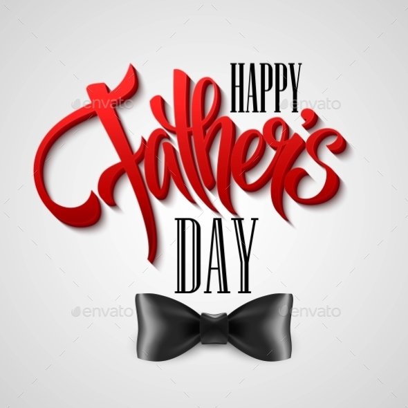 Happy Fathers Day Greeting Card. Vector
