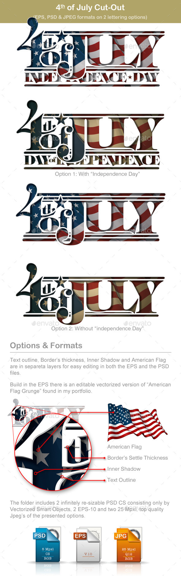 4th of July Cut-Out