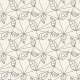 Seamless Leaves Line Pattern Tile Background - GraphicRiver Item for Sale