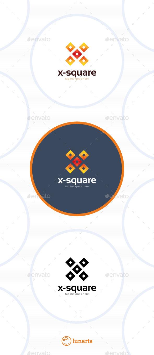 X-Square Logo - Letter X
