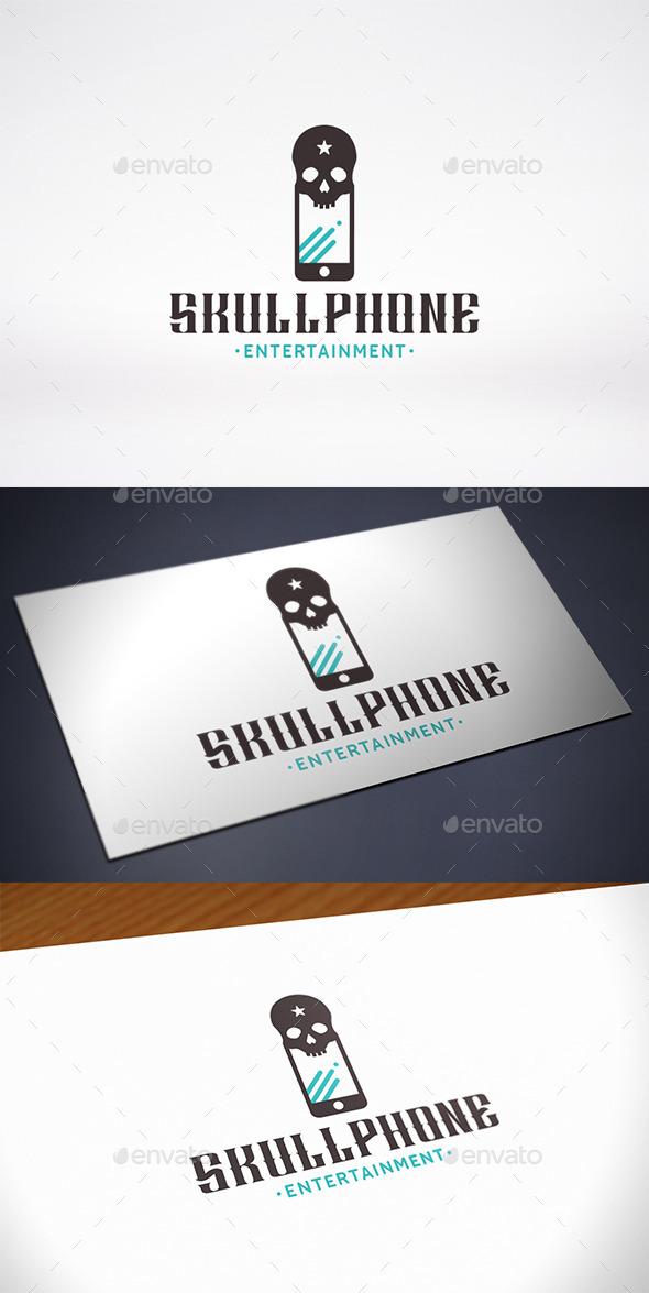 Skull Phone Logo Template